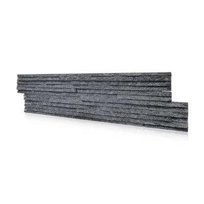 PLASMA BLACK QUARTZITE - 6.7 SF / BOX - 55 LBS